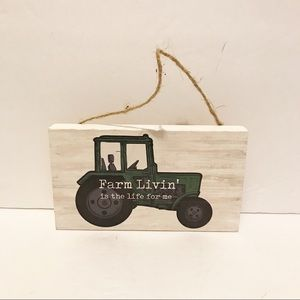 NWT rustic/farmhouse tractor wood sign
